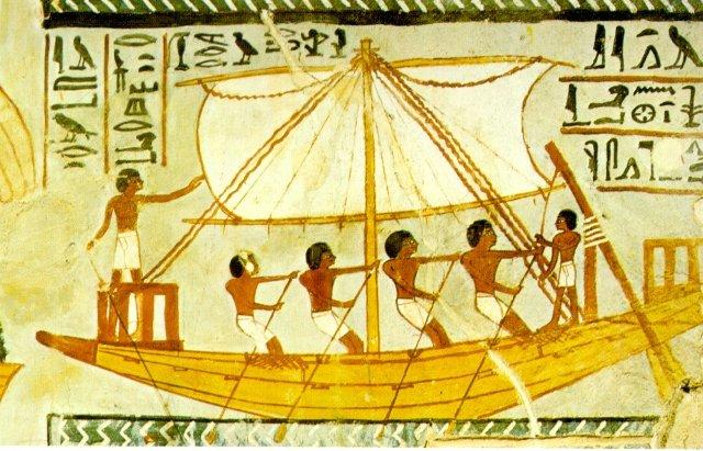 Деревянная ладья египтян